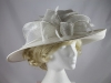 J.Bees Millinery Events Hat in White Ice